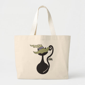 Witchy Kitty in Green Hat Bag
