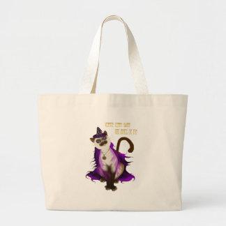*Witchy Kitty Jumbo Tote Bag