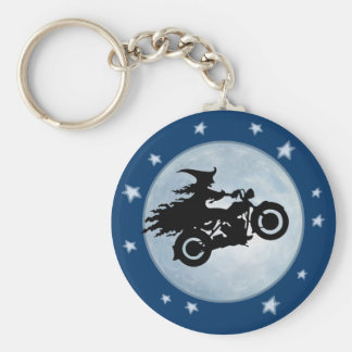 Witchy Mama Basic Round Button Key Ring