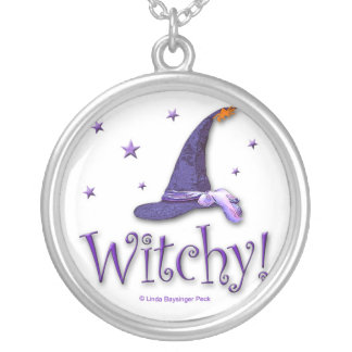 Witchy Round Pendant Necklace