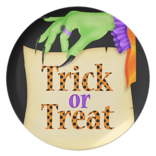 Witchy Note Halloween Melamine Plate