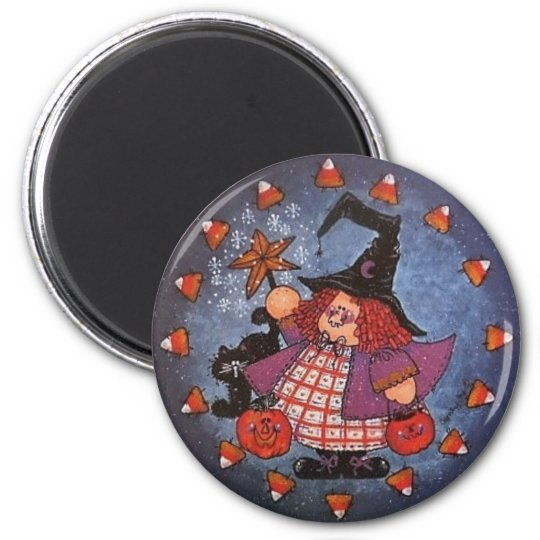 Witchy Poo Button Magnet