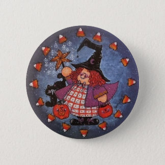 Witchy Poo Button Pin