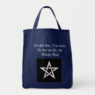 witchy way tote grocery tote bag