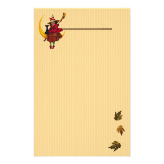 Witchy Woman and Black Cat Stationery