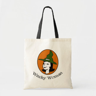Witchy Woman Cartoon Style Tote Bag