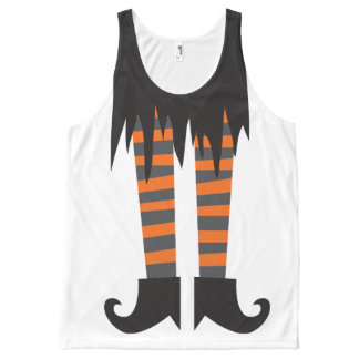 Witchy Woman Funny Halloween All-Over Print Tank Top