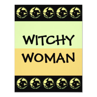 """Witchy Woman 4.25"""" X 5.5"""" Invitation Card"""