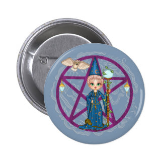 Witchy Woman Penctacle Pixel Art 6 Cm Round Badge