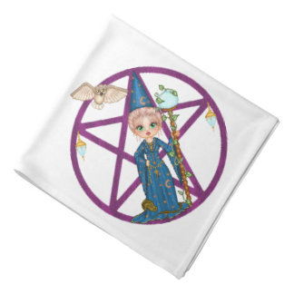 Witchy Woman Penctacle Pixel Art Do-rag