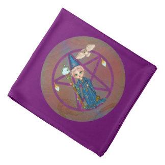 Witchy Woman Penctacle Pixel Art Kerchiefs