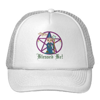 Witchy Woman Penctacle Pixel Art Trucker Hat
