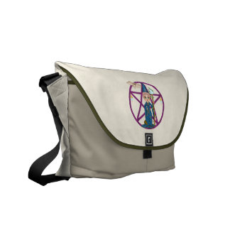 Witchy Woman Penctacle Pixel Art Courier Bags