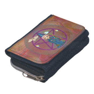 Witchy Woman Penctacle Pixel Art Wallets