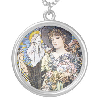 Witchy Woman Round Pendant Necklace