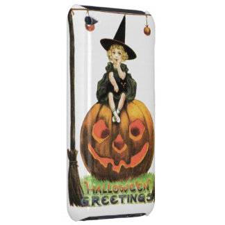 Witchy Woman Vintage Halloween iPod Case-Mate Cases