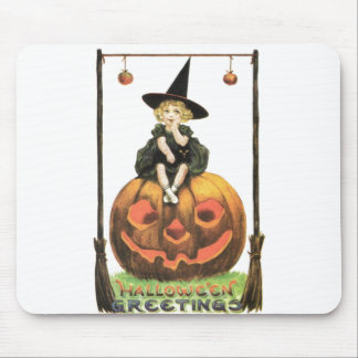 Witchy Woman Vintage Halloween Mouse Pad