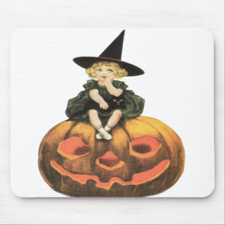 Witchy Woman Vintage Halloween Mouse Pads