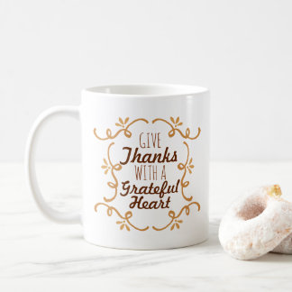 With A Grateful Heart Thanksgiving | Classic Mug