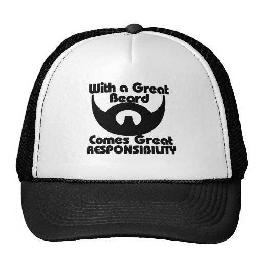 With a great beard comes great resposibility mesh hats