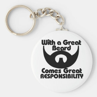 With a great beard comes great resposibility key ring