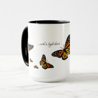 With a Light Heart - Monarch Butterfly Mug
