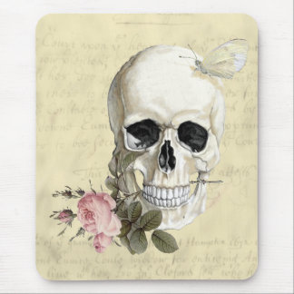 With a rose between my teeth mouse pad