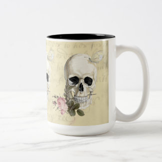 With a rose between my teeth Two-Tone coffee mug