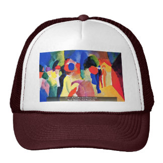 With A Yellow Jacket By Macke August Trucker Hat
