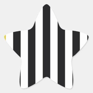 With A Yellow Stripe Star Sticker