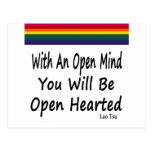 With An Open Mind You Will Be Open Hearted Post Card