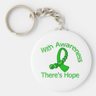 With Awareness There's Hope Spinal Cord Injury Keychains