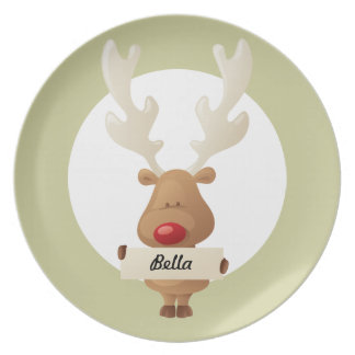 with Banner Christmas Kids Plate
