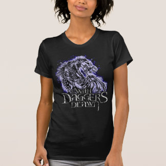 With Daggers Drawn Pale Horse Girlie T-Shirt