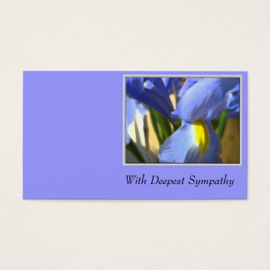 With Deepest Sympathy Business Card