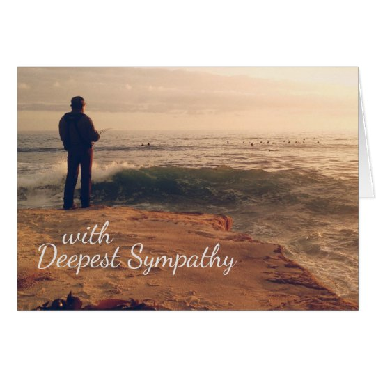 With Deepest Sympathy Cards for a Fisherman