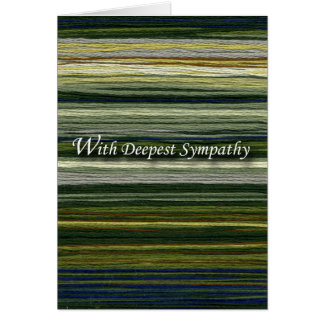 With Deepest Sympathy, Thread Landscape Card
