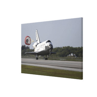 With drag chute unfurled 2 canvas print