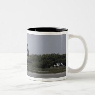 With drag chute unfurled Two-Tone coffee mug