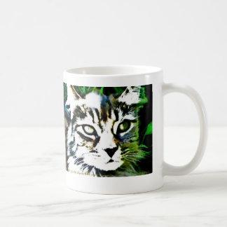 With eyes of liquid gold and bronze basic white mug