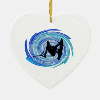 WITH GLASSY CONDITIONS CERAMIC HEART DECORATION