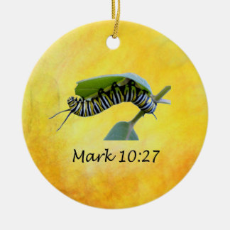 With God All Things Are Possible Monarch Butterfly Christmas Ornament