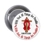 WITH GOD CROSS AIDS / HIV T-Shirts & Gifts Pins
