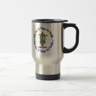 WITH GOD CROSS AUTISM T-Shirts & Gifts Travel Mug