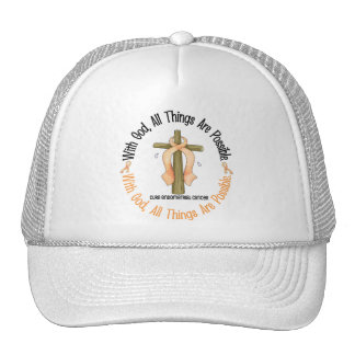 WITH GOD CROSS Endometrial Cancer T-Shirts & Gifts Trucker Hat