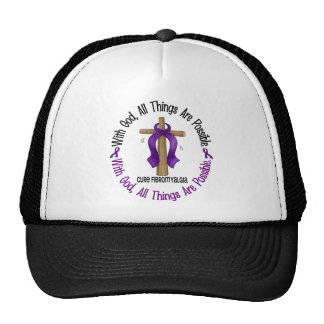 WITH GOD CROSS Fibromyalgia T-Shirts & Gifts Trucker Hat