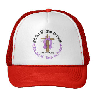 WITH GOD CROSS Hodgkin's Lymphoma Shirts & Gifts Trucker Hat