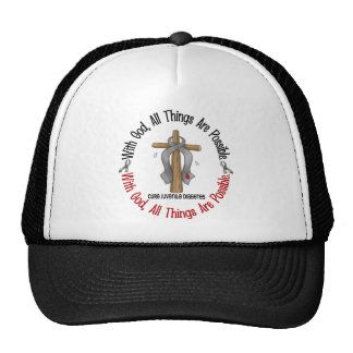 WITH GOD CROSS Juvenile Diabetes T-Shirts & Gifts Trucker Hat