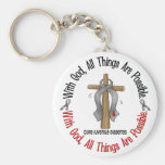 WITH GOD CROSS Juvenile Diabetes T-Shirts & Gifts Key Chains