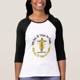 WITH GOD CROSS Liver Cancer T-Shirts & Gifts
